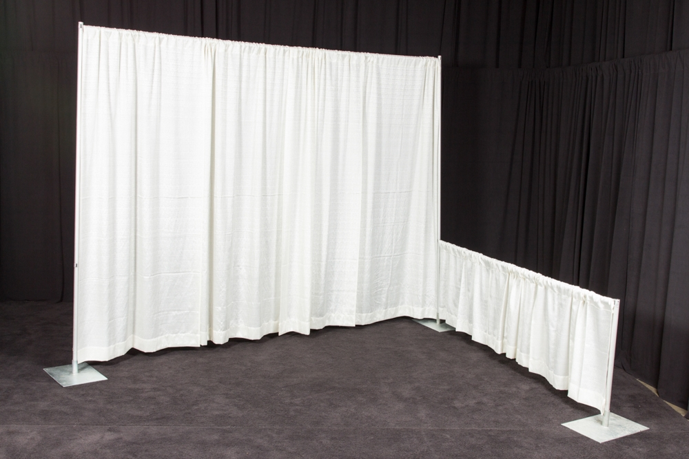 Products White Drape Amp Pipe Ops Event Rentals Inc